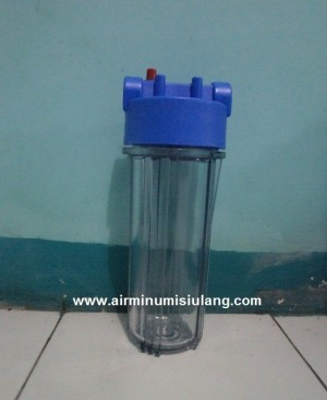Housing Filter Clear Ukuran 10 inch with Double Seal, Lebih Tahan Bocor